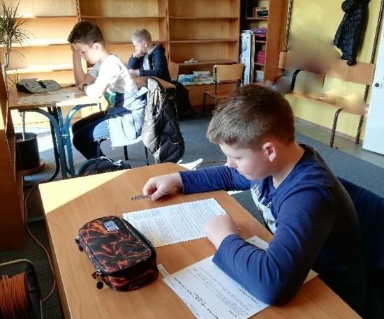 Uczniowie SP w Woli Radziszowskiej