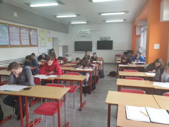 Uczniowie ZSP MSG w Myślenicach