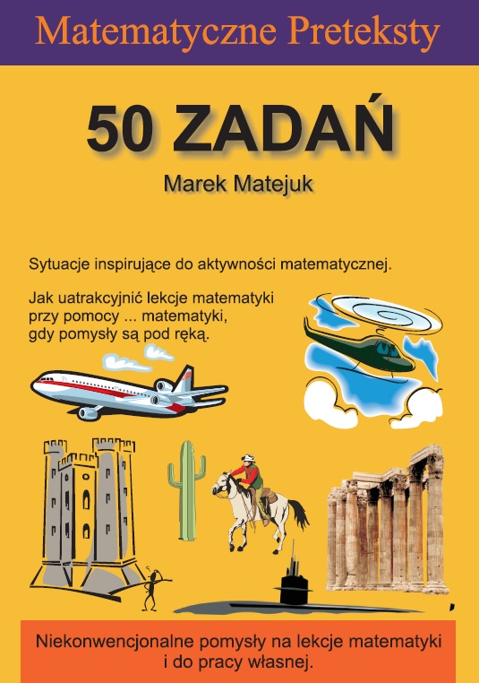 Okładka 3. wydania książki 'Matematyczne Preteksty. 50 zadań'